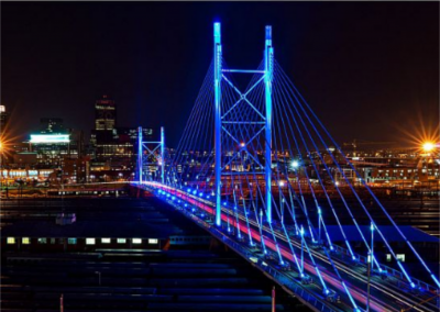 light mandela bridge blue
